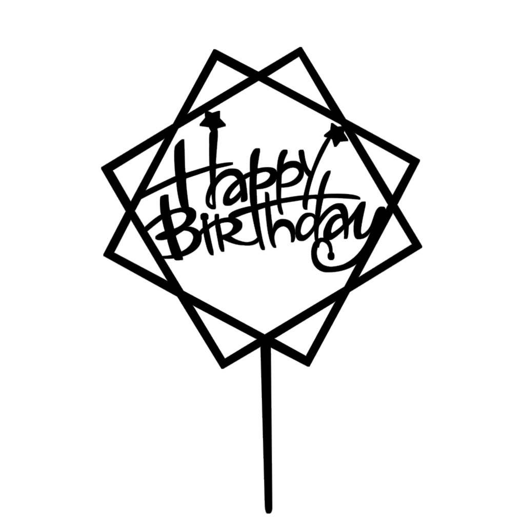 detail feedback questions about square round happy birthday letter Unhappy Birthday 1 happy birthday cakecup topper