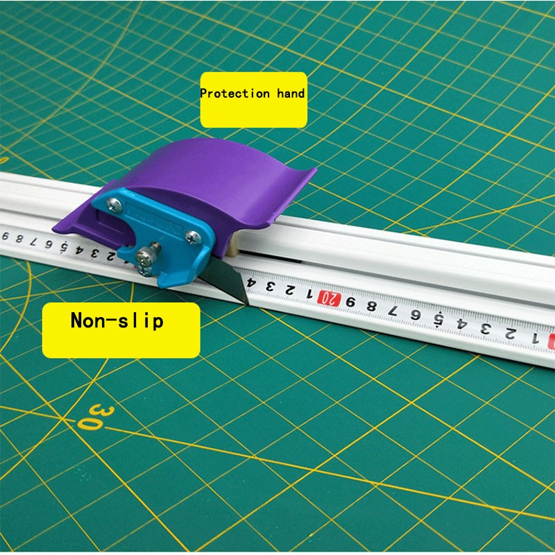 For Kt Board Pvc Board Manual Cutting Ruler Aluminum Alloy Anti-skid Cutting Positioning Ruler Cutting Tool DIY Repair Hand Tool