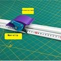 Voor Kt boord Pvc board Handmatig Snijden heerser aluminium legering anti-slip snijden Positionering heerser Snijgereedschap DIY Reparatie hand Tool