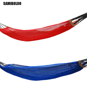 Image 2 - SAMIBULUO Camping Rural Style For Adult Portable Single Person Outdoor Travel Furniture Ice Silk Outdoor Hammock