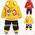 0-3 years old boy hooded padded suit a variety / Winter thicker version of baby clothes H540