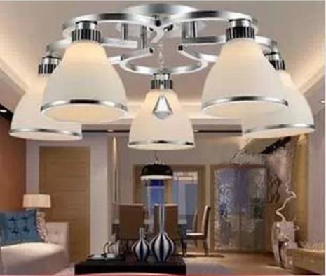 Vermetel Moderne Korte Geleid Restaurant Plafondlamp Kristallen Lamp Eettafel Met Een Langdurige Reputatie