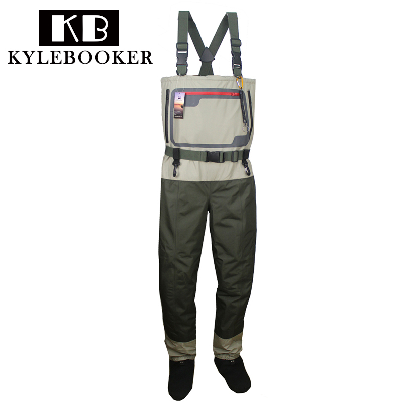 Fly Fishing chest waders Durable and Waterproof Breathable Stocking foot Hunting wading pants for Men and