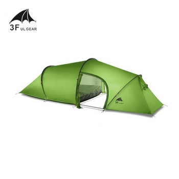 3F UL GEAR 2 person 2 room 4 season Tunnel tent 15D silicon outdoor camping hiking climbing ultralight large space 210T tents 1