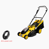 Hand push electric lawn mower small home mowing artifact weeder grass mower lawn trimmer for Garden/park 6 gear height adjust