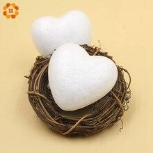 10PCS 70MM White Heart Shape Modelling Polystyrene Styrofoam Foam Ball DIY Christmas Ornaments Gifts Wedding Decoration Supplies