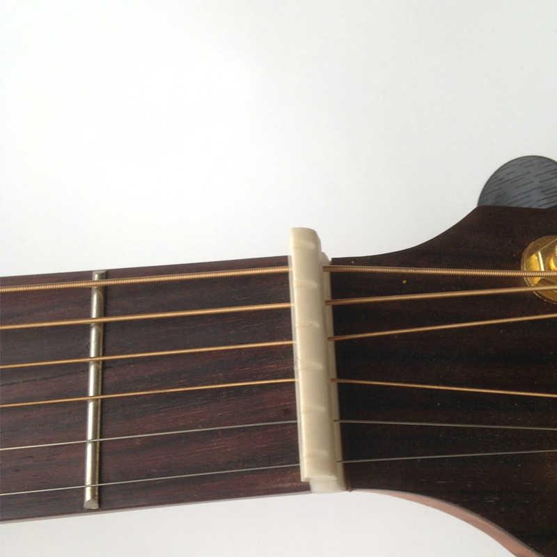 2 pcs/set Acoustic Guitar Wooden Guitar Emulation Beef Bone Strings Bridge Pillow(1 pcs Bridge 1 pcs Pillow)