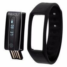 Умный Браслет MK020 Bluetooth OLED Сенсорный Экран Сердечного ритма Трек часы с USB Разъемом для IOS Android Смартфон Вибрации ТПУ