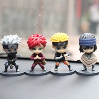 4pcs Lot Car Ornaments Lovely Q Style Doll Cool Styling Gift For Friend 10cm