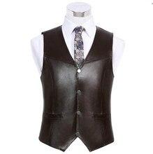 Hohe qualität männer schafsleder weste Kleidung Reporter Mehr Als Tasche Quinquagenarian Männer Weste Tops