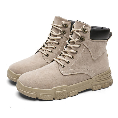 Herrenschuhe Winter Neue High-top Schuhe Wüste Stiefel Trend England Werkzeug Stiefel Flut Schuhe Leder Stiefel Retro War Wolf Armee Stiefel Männer