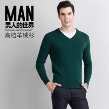 Men Sweater 2016 New High Quality 100% Cashmere Pullovers Winter Warm Jumper V neck Noble Fashion clothes Standard Tops for Male