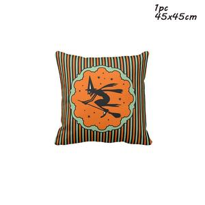 Image 2 - LAPHIL Halloween Party Scary Pumpkin Witch Pillowcase Happy Halloween Decorations for Home 2019 Merry Christmas Party Supplies
