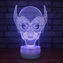 2018 New Savage Mask Night Light Led Colorful Gradual Change Night Light Usb Creative Gift Desk Lamp 3d Light Fixtures