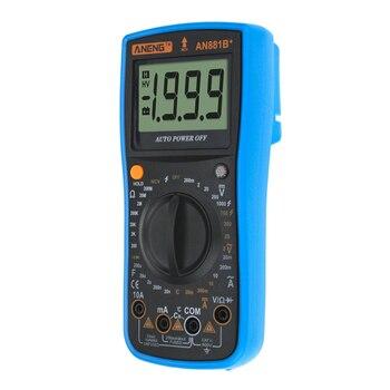 AN881B + True Rms Cyfrowy Miernik Uniwersalny Tranzystor Testery Instrukcja Wysokiej Precyzji Digitals Miernik Testujący Ac Dc Multi Meter