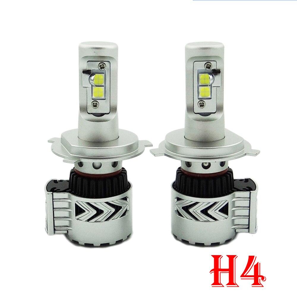1 компл. H4 H7 H8 H9 H11 9005 9006 H13 80 Вт 12000lm G8 светодиодный фар Мощность комплект xhp50 чип турбо вентилятор Чистый белый 6500 К автомобиля Лампы для мотоци...