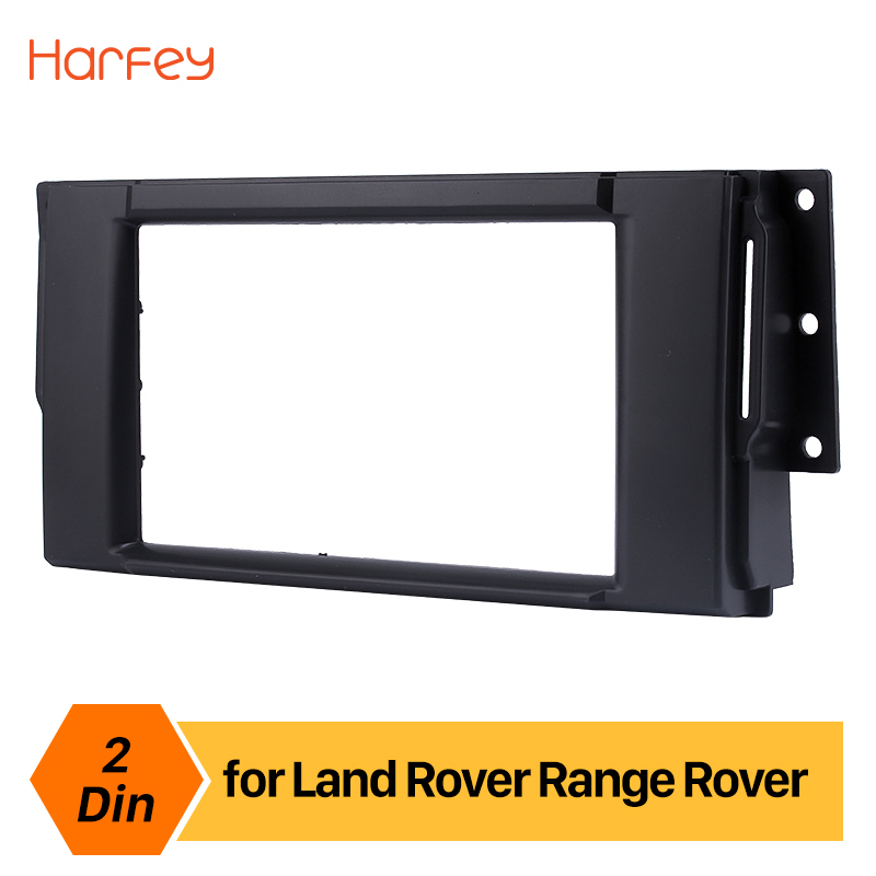 Harfey 2Din Auto Car Stereo Frame For Land Rover Range Rover Refitting Dashboard Interface Indash Panel DVD Player Fascia Bezel