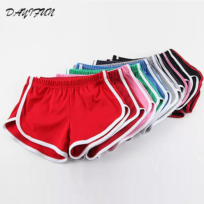 DAYIFUN Summer Street Fashion   Shorts   Women Elastic Waist   Short   Pants Women All-match Loose Solid Soft Cotton Casual   Shorts   NP001