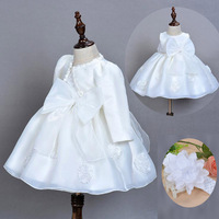 Newborn baby girl clothes Princess Tutu Dress Girls Baptism Dresses For Wedding Birthday Party Soft Organza Frock + Headband