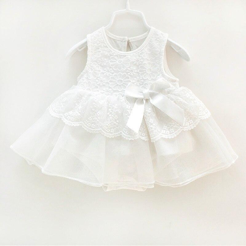 2017 Summer Dress Newborn Baby Girl Sleeveless Dress Lace