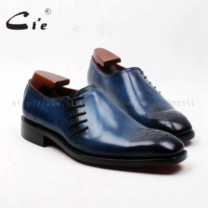 cie Free Shipping Bespoke Handmade Pure Genuine Calfskin Leather Upper Lining Outsole Men's Daily Casual Color Blue Shoe OX600 luminox made in switzerland a 1945 xl 1945 a 1947 xl 1947 the army men s series of waterproof luminous quartz