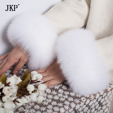 Fox fur Cuffs 2020 Genuine Fox Fur Cuff Arm Warmer Lady Bracelet Real Fur Wristband Glove