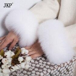 Fox fur Cuffs 2017 Genuine Fox Fur Cuff Arm Warmer Lady Bracelet Real Fur Wristband Glove