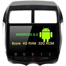 Android 8,0 4 GB Оперативная память 32 ГБ Встроенная память GPS; Мультимедийный проигрыватель 10,2 «HD Сенсорный экран для Mitsubishi ASX 2009 2010 2011 2012 2013 2014 2015