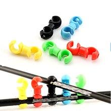 10PCS/Bag MTB Bike Road Plastic Handcuffs Shape Clips Bicycle  Hose Guide For Brake Cable/Derailleur Line Case Clasps