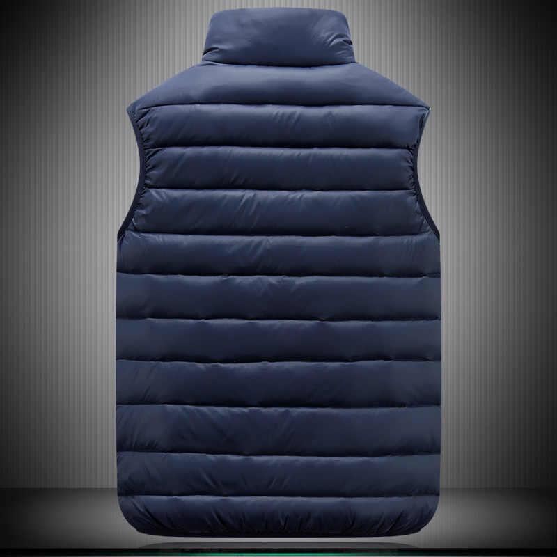 가을 겨울 커플 모델 경량 다운 재킷 코튼 조끼 큰 사이즈 코튼 조끼 남성 여성 슬림 패션 조끼 S-6XL