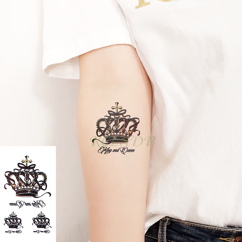 Waterproof Temporary Tattoo Sticker Moon Lion Crowntatoo Owl Tatto Flash Tatoo Flower Fake Tattoos For Men Women