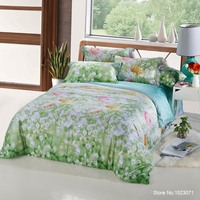 TUTUBIRD 100 Tencel Bamboo Fiber Silk Fabric Bedding Set Boho Super Soft Bedclothes Duvet Cover Sheets
