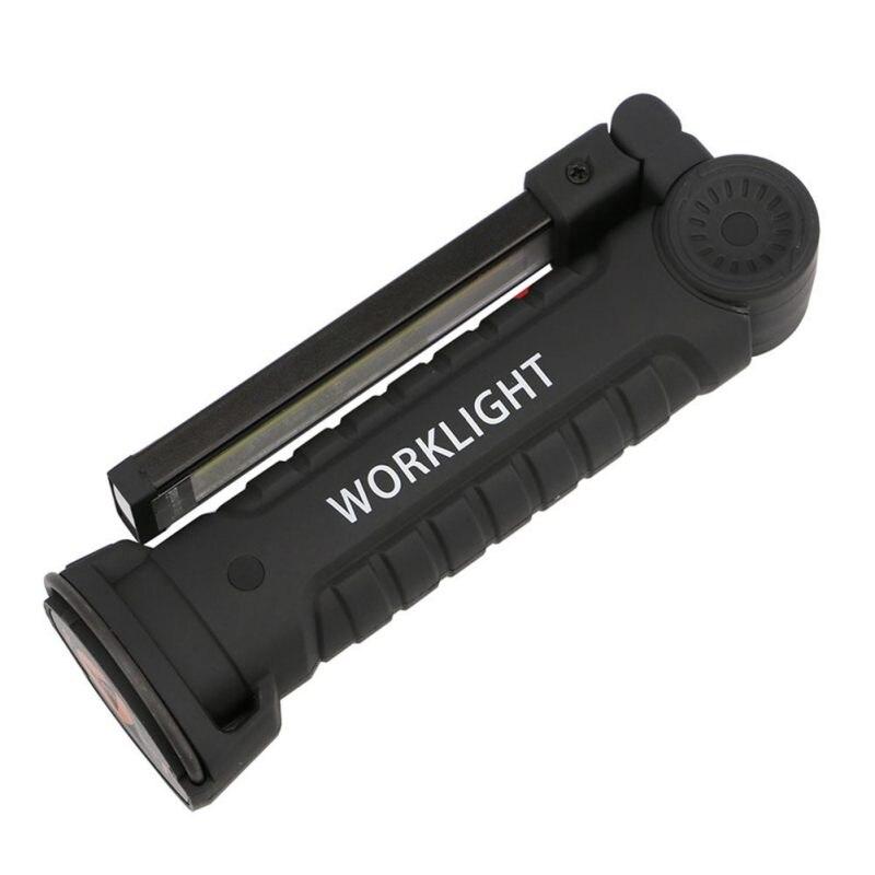 Cob Led Work Light Inspection Lamp Flashlight Torch: Foldable COB LED Flashlight Torch Flexible Hand Torch Work