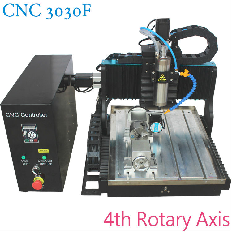 JFT Hot sales ce supported water tank 3030 axis cnc machine router 800W with 4th Rotary Axis for jewelry jade gold making jft high quality cnc wood router with water tank 4 axis 800w water cooling woodworking machine with parallel port 6040