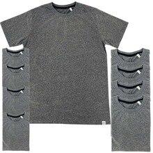 LAUKEXIN Sell stock 5 7 10 Pack USA Size Big Tall Wholesal Dark Grey T  Shirts Hip Hop 2f0ee8ec8de0