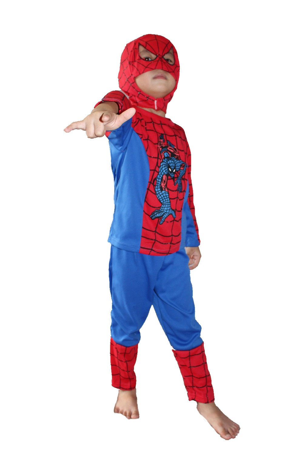 Halloween kid Long sleeve spider-man Role-playing clothing,boy GHOST roll play emboitement,Children's model clothing