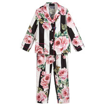 Adult and children's flower pajamas set