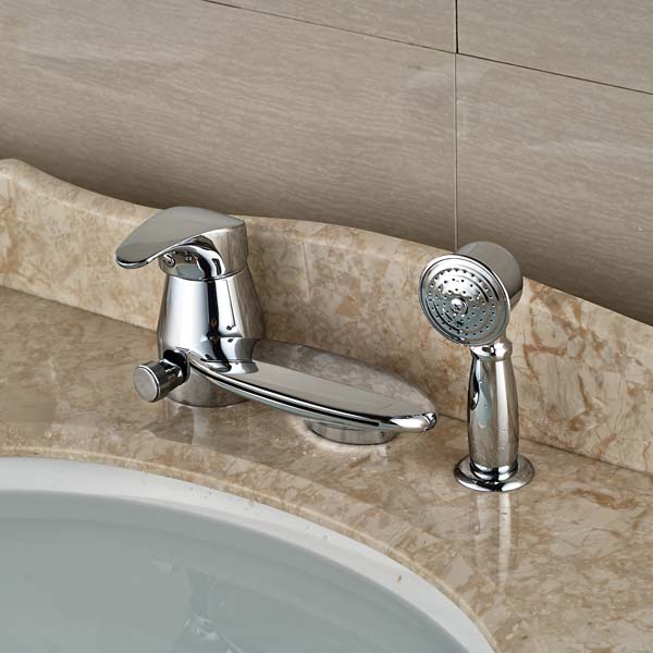 Waterfall Spout Bathroom Tub Faucet W  Pull Out Hand Sprayer. Aliexpress com   Buy Waterfall Spout Bathroom Tub Faucet W  Pull