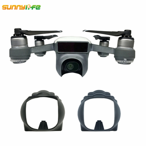 Sun Hood For DJI Spark Gimbal Lens Cap Sunshade Camera Lens Cover Prop Protector for DJI Spark Drone for DJI Spark Accessories(China)