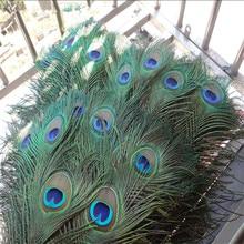 Высокое качество павлиньи перья 20 шт./партия, длина 25-32 см красивые натуральные перья павлина Diy Ювелирные изделия декоративный для декора фурнитура