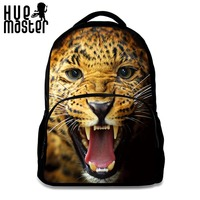 Men's Casual Backpack 15.6 inch Laptop Backpacks High Capacity School Bags for College Students Tiger Printing Bagpack Rugzak