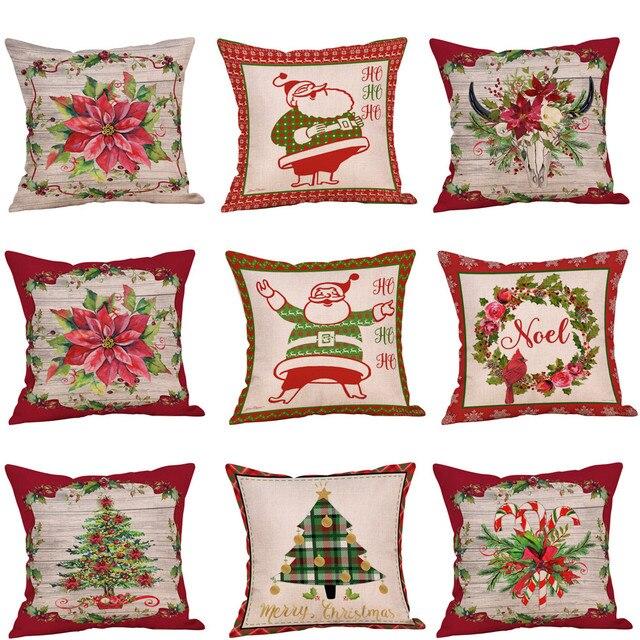 9 stili di Lino Floreale Buon Cotone di Tela Albero Di Natale Chiusura a Cernier