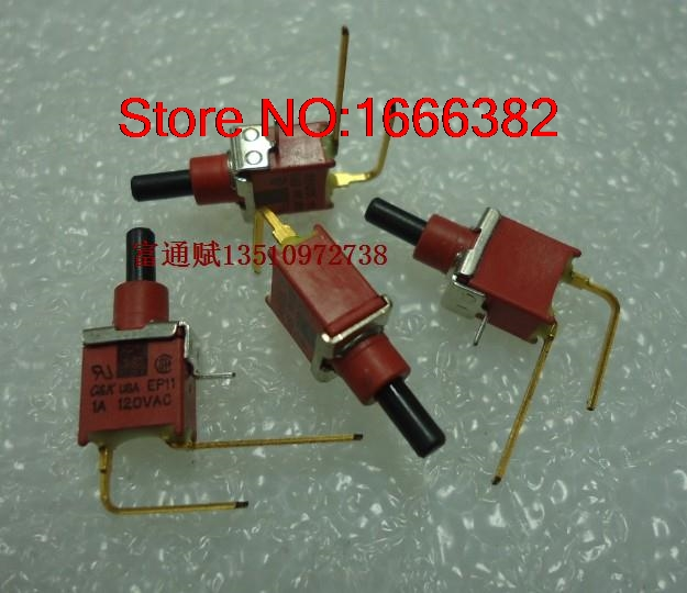 Careful Import Button Button Ep11 Gold-plated Feet Mini 2-legged Bending Feet Reset Button Switch Button Switch Consumer Electronics Electrical Sockets & Plugs Adaptors