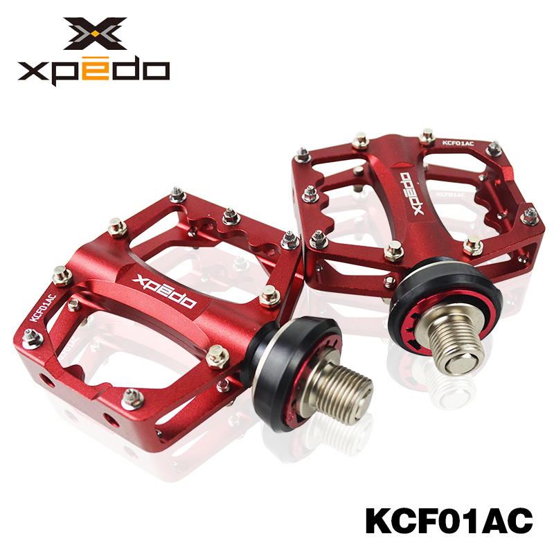 Xpedo Bicycle Pedals Quick Release QR Cycling BMX MTB Road Mountain Bike Pedals Alu Bearing Ultralight 285g KCF01AC цена