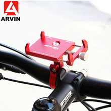 ARVIN Aluminum Motorcycle Bicycle Phone Holder For iPhone Adjustable Universal Bike Mobile Phone GPS Mount Handlebar Clip Stand цена