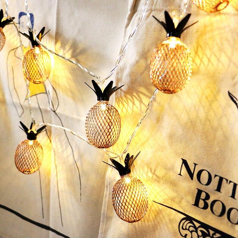 LED String Lights Christmas String Lights  LED Lantern String Lamps Home Decoration Light Retro Iron Metal LED Fairy Light D20