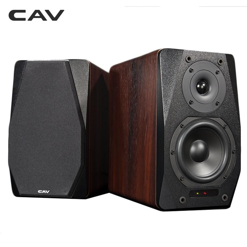 CAV FD-20 Bookshelf Speaker 2.0 Bluetooth Speaker SoundSystem Wood MusicSpeakers For Computer Column Soundbar 5.25Inch Newest 1