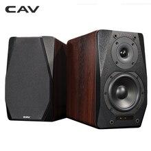 CAV FD 20 책장 스피커 2.0 블루투스 스피커 사운드 시스템 나무 음악 스피커 컴퓨터 열 사운드 바 5.25 인치 최신
