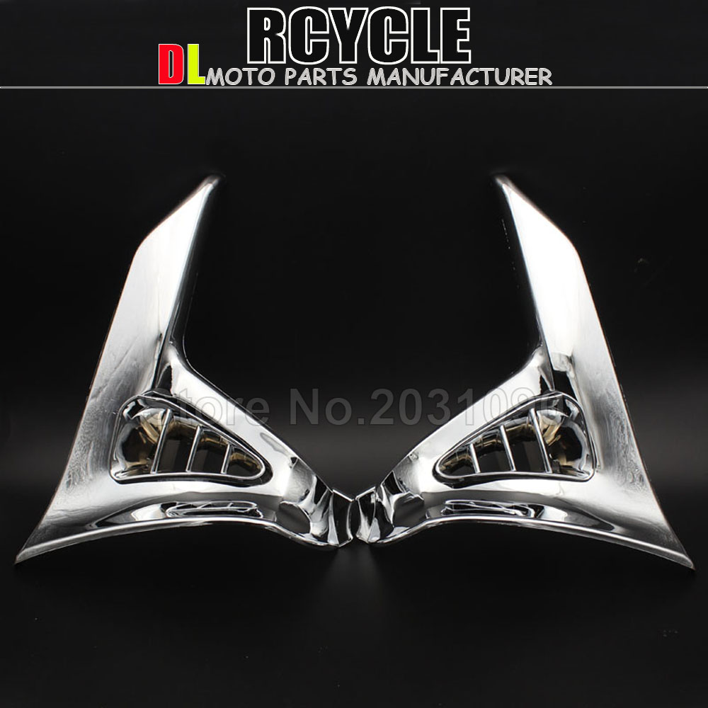 Hot Sales Chrome Triangle Cover For Honda GoldWing GL 1800 GL1800 Chrome Left Right Motorcycle Parts