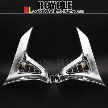 Hot sprzedaży Chrome trójkąt pokrywa dla Honda GoldWing GL 1800 GL1800 Chrome lewego prawego motocykla części akcesoria do modyfikacji tanie i dobre opinie Obejmuje listew ozdobnych 20inch RUNNING PANTHER 0 36kg